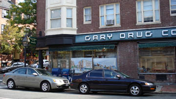 Gary Drug on Charles Street.