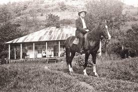 William Stepp on horseback