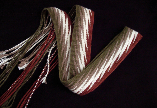 Hand woven sash by Elizabeth James Perry