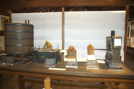 Dard Hunter model of papermaking