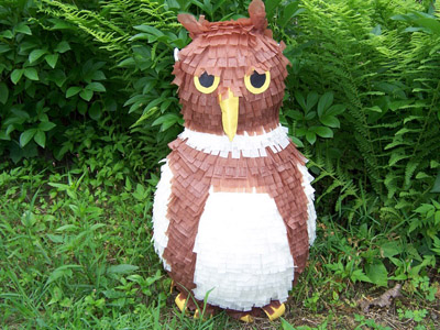 Owl pinata by Angelica Ortiz