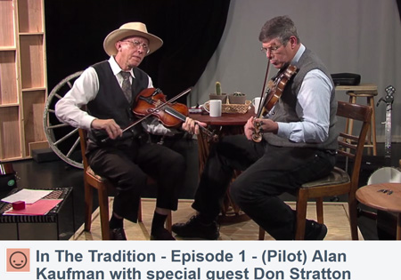 """Scene from """"In the Tradition"""" with Alan Kaufman and Don Stratton"""
