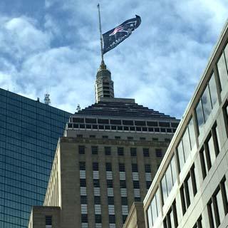 Flag atop Hancock building copy