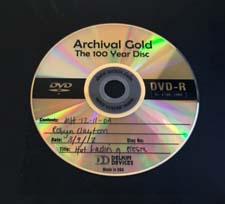archival DVD disc