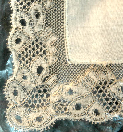 Detail of a lace corner