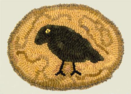 Hooked rug by Susan Sharpe