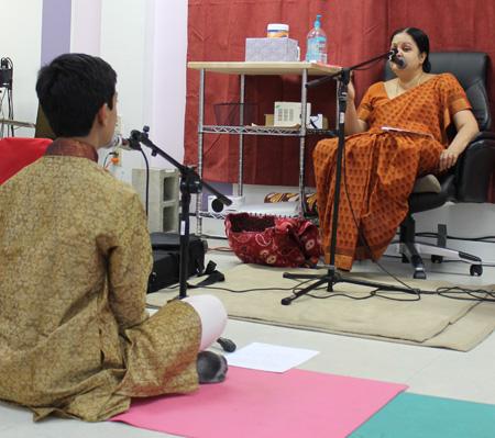 Tara Bangalore (right) and Pratik Bharadwaj. Photo by Jennifer Atwood.