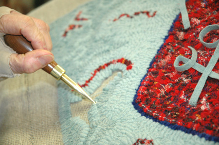 Rug hooking detail. Photo by Maggie Holtzberg