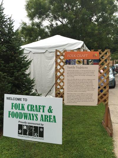 Signage in Folk Craft & Foodways area