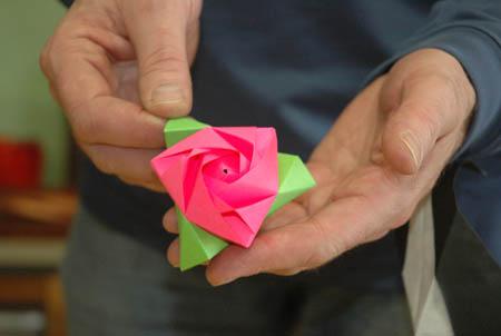origami rose by Richard Alexander