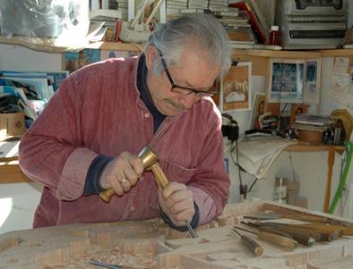 Dimitrios Klitsas at his workbench