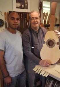 William Cumpiano with apprentice Isidro Acosta