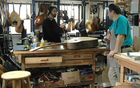 Adam Schutman recording ChrisPantazelos being interviewed