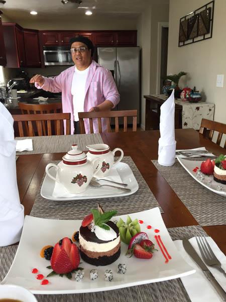 Ruben Arroco serving guests